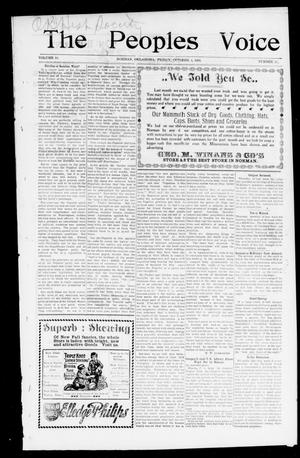 The Peoples Voice (Norman, Okla.), Vol. 10, No. 11, Ed. 1 Friday, October 4, 1901
