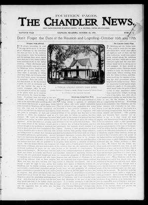 Primary view of object titled 'The Chandler News. (Chandler, Okla.), Vol. 11, No. 4, Ed. 1 Thursday, October 10, 1901'.