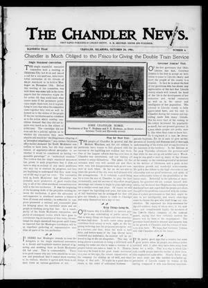 Primary view of object titled 'The Chandler News. (Chandler, Okla.), Vol. 11, No. 6, Ed. 1 Thursday, October 24, 1901'.