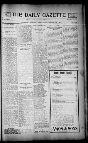 Primary view of object titled 'The Daily Gazette. (Stillwater, Okla.), Vol. 1, No. 229, Ed. 1 Tuesday, October 29, 1901'.