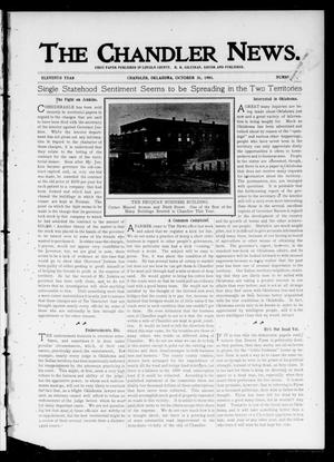 Primary view of object titled 'The Chandler News. (Chandler, Okla.), Vol. 11, No. 7, Ed. 1 Thursday, October 31, 1901'.