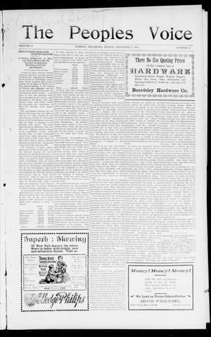 The Peoples Voice (Norman, Okla.), Vol. 10, No. 16, Ed. 1 Friday, November 8, 1901