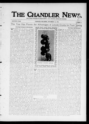 Primary view of object titled 'The Chandler News. (Chandler, Okla.), Vol. 11, No. 8, Ed. 1 Thursday, November 14, 1901'.