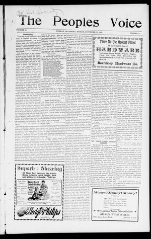 The Peoples Voice (Norman, Okla.), Vol. 10, No. 18, Ed. 1 Friday, November 22, 1901
