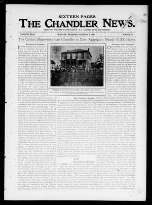Primary view of object titled 'The Chandler News. (Chandler, Okla.), Vol. 11, No. 11, Ed. 1 Thursday, December 5, 1901'.