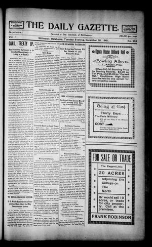 Primary view of object titled 'The Daily Gazette. (Stillwater, Okla.), Vol. 1, No. 264, Ed. 1 Tuesday, December 10, 1901'.