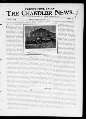 Primary view of object titled 'The Chandler News. (Chandler, Okla.), Vol. 11, No. 12, Ed. 1 Thursday, December 12, 1901'.