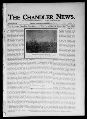 Primary view of object titled 'The Chandler News. (Chandler, Okla.), Vol. 11, No. 15, Ed. 1 Thursday, January 2, 1902'.