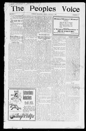 The Peoples Voice (Norman, Okla.), Vol. 10, No. 24, Ed. 1 Friday, January 3, 1902