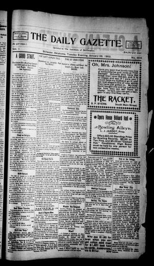 Primary view of object titled 'The Daily Gazette. (Stillwater, Okla.), Vol. 1, No. 305, Ed. 1 Tuesday, January 28, 1902'.