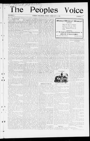 The Peoples Voice (Norman, Okla.), Vol. 10, No. 31, Ed. 1 Friday, February 21, 1902