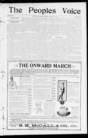 The Peoples Voice (Norman, Okla.), Vol. 10, No. 38, Ed. 1 Friday, April 11, 1902