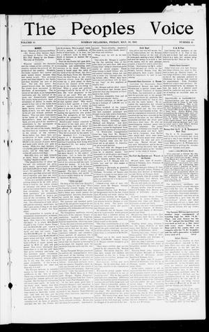 Primary view of object titled 'The Peoples Voice (Norman, Okla.), Vol. 10, No. 45, Ed. 1 Friday, May 30, 1902'.