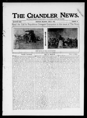 Primary view of object titled 'The Chandler News. (Chandler, Okla.), Vol. 11, No. 38, Ed. 1 Thursday, June 5, 1902'.