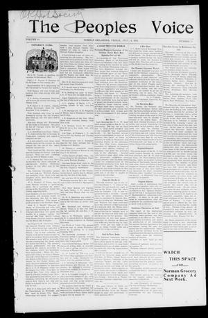 The Peoples Voice (Norman, Okla.), Vol. 10, No. 50, Ed. 1 Friday, July 4, 1902