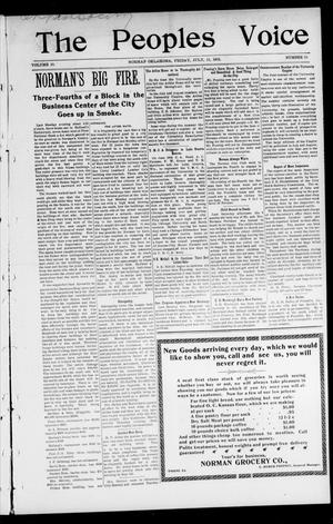 The Peoples Voice (Norman, Okla.), Vol. 10, No. 51, Ed. 1 Friday, July 11, 1902