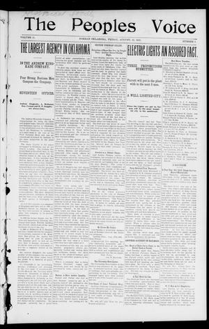 The Peoples Voice (Norman, Okla.), Vol. 11, No. 5, Ed. 1 Friday, August 22, 1902
