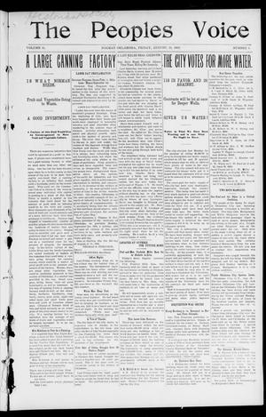 The Peoples Voice (Norman, Okla.), Vol. 11, No. 6, Ed. 1 Friday, August 29, 1902