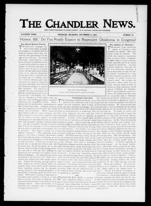 Primary view of object titled 'The Chandler News. (Chandler, Okla.), Vol. 11, No. 51, Ed. 1 Thursday, September 4, 1902'.