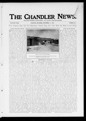Primary view of object titled 'The Chandler News. (Chandler, Okla.), Vol. 11, No. 52, Ed. 1 Thursday, September 11, 1902'.