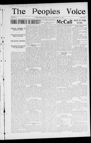 The Peoples Voice (Norman, Okla.), Vol. 11, No. 9, Ed. 1 Friday, September 19, 1902