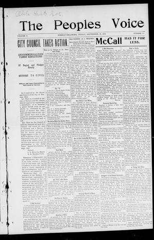 The Peoples Voice (Norman, Okla.), Vol. 11, No. 10, Ed. 1 Friday, September 26, 1902