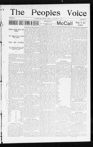 Primary view of object titled 'The Peoples Voice (Norman, Okla.), Vol. 11, No. 13, Ed. 1 Friday, October 17, 1902'.