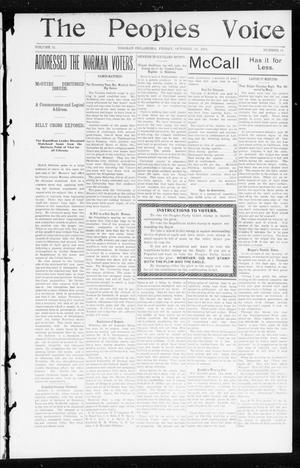 Primary view of object titled 'The Peoples Voice (Norman, Okla.), Vol. 11, No. 14, Ed. 1 Friday, October 24, 1902'.