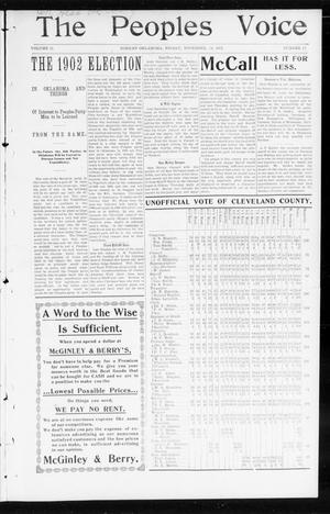 The Peoples Voice (Norman, Okla.), Vol. 11, No. 17, Ed. 1 Friday, November 14, 1902