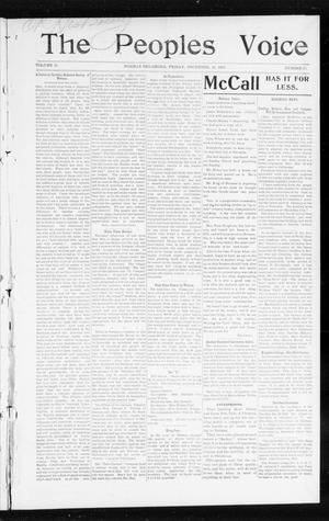 Primary view of object titled 'The Peoples Voice (Norman, Okla.), Vol. 11, No. 23, Ed. 1 Friday, December 26, 1902'.