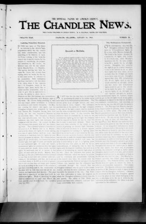 Primary view of object titled 'The Chandler News. (Chandler, Okla.), Vol. 12, No. 20, Ed. 1 Thursday, January 29, 1903'.