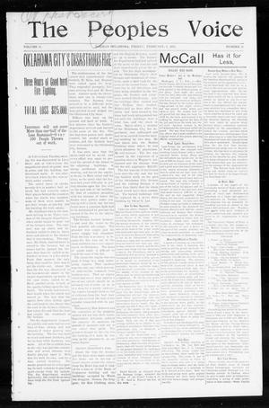 The Peoples Voice (Norman, Okla.), Vol. 11, No. 29, Ed. 1 Friday, February 6, 1903