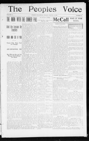 The Peoples Voice (Norman, Okla.), Vol. 11, No. 34, Ed. 1 Friday, March 13, 1903