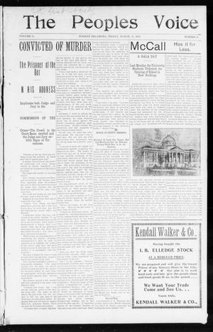 The Peoples Voice (Norman, Okla.), Vol. 11, No. 35, Ed. 1 Friday, March 20, 1903