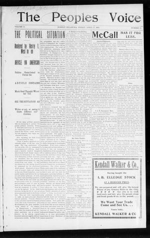 The Peoples Voice (Norman, Okla.), Vol. 11, No. 39, Ed. 1 Friday, April 17, 1903
