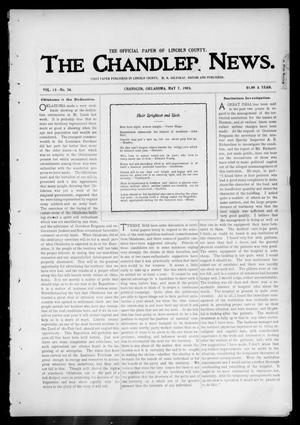 Primary view of object titled 'The Chandler News. (Chandler, Okla.), Vol. 13, No. 34, Ed. 1 Thursday, May 7, 1903'.