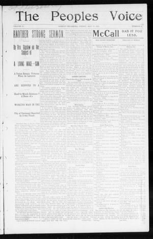 Primary view of object titled 'The Peoples Voice (Norman, Okla.), Vol. 11, No. 43, Ed. 1 Friday, May 15, 1903'.