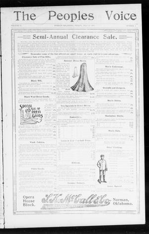 Primary view of object titled 'The Peoples Voice (Norman, Okla.), Vol. 12, No. 1, Ed. 1 Friday, July 24, 1903'.