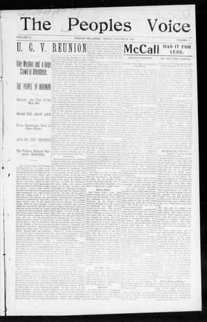 The Peoples Voice (Norman, Okla.), Vol. 12, No. 6, Ed. 1 Friday, August 28, 1903