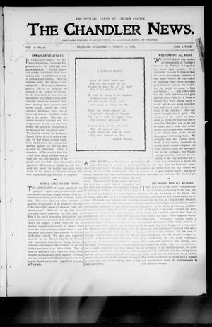 Primary view of object titled 'The Chandler News. (Chandler, Okla.), Vol. 13, No. 51, Ed. 1 Thursday, September 10, 1903'.