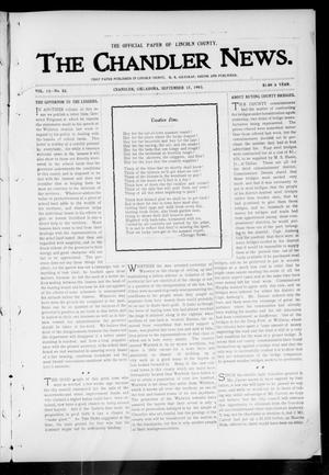 Primary view of object titled 'The Chandler News. (Chandler, Okla.), Vol. 13, No. 52, Ed. 1 Thursday, September 17, 1903'.
