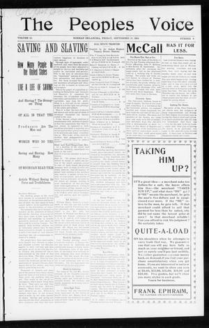 The Peoples Voice (Norman, Okla.), Vol. 12, No. 9, Ed. 1 Friday, September 18, 1903