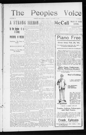 The Peoples Voice (Norman, Okla.), Vol. 12, No. 16, Ed. 1 Friday, October 30, 1903
