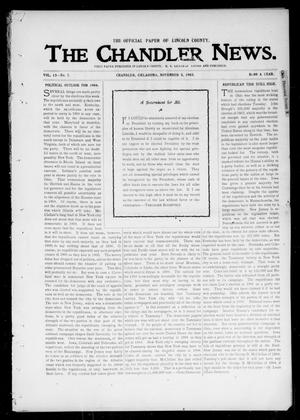 Primary view of object titled 'The Chandler News. (Chandler, Okla.), Vol. 13, No. 7, Ed. 1 Thursday, November 5, 1903'.