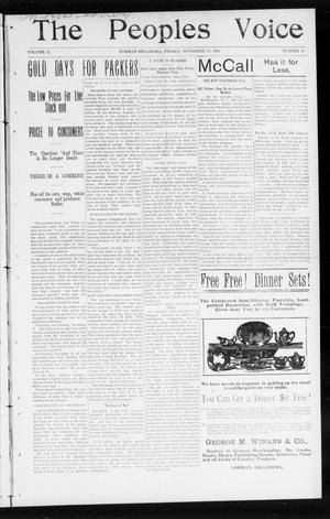 The Peoples Voice (Norman, Okla.), Vol. 12, No. 20, Ed. 1 Friday, November 27, 1903