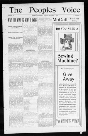 The Peoples Voice (Norman, Okla.), Vol. 12, No. 21, Ed. 1 Friday, December 4, 1903