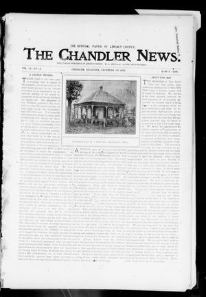 Primary view of object titled 'The Chandler News. (Chandler, Okla.), Vol. 13, No. 13, Ed. 1 Thursday, December 17, 1903'.