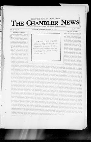 Primary view of object titled 'The Chandler News. (Chandler, Okla.), Vol. 13, No. 14, Ed. 1 Thursday, December 24, 1903'.
