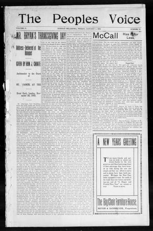 The Peoples Voice (Norman, Okla.), Vol. 12, No. 25, Ed. 1 Friday, January 1, 1904