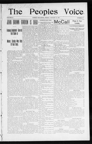 The Peoples Voice (Norman, Okla.), Vol. 12, No. 27, Ed. 1 Friday, January 15, 1904